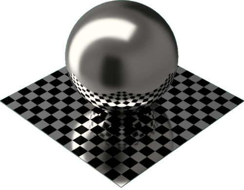 3DCADモデリングの外観をメタルのプラチナ球