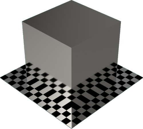 3DCADモデリングの外観をメタルのプラチナ直方体