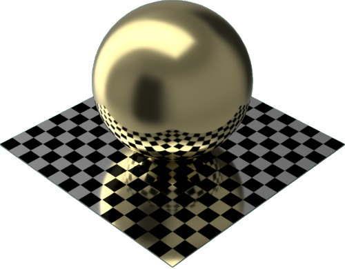 3DCADモデリングの外観をメタルの金球