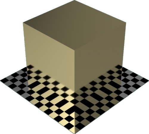 3DCADモデリングの外観をメタルの金直方体