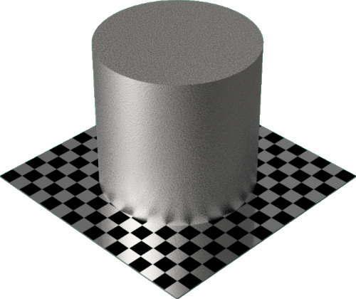 3DCADモデリングの外観をメタルの鉄-鋳鉄円柱