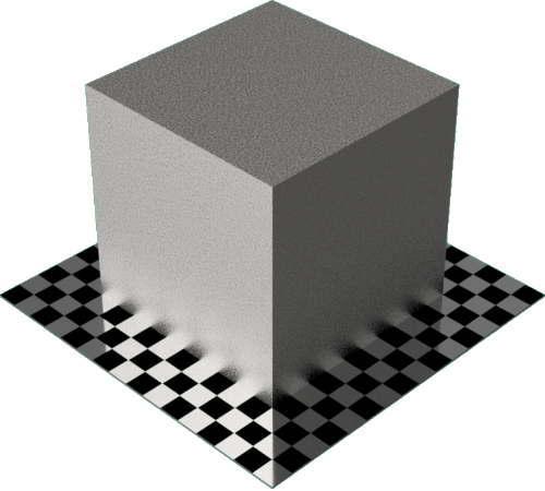 3DCADモデリングの外観をメタルの鉄-鋳鉄直方体