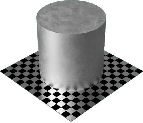 3DCADモデリングの外観をメタルの鉛円柱