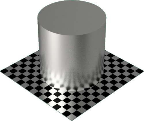 3DCADモデリングの外観をメタルの銀円柱