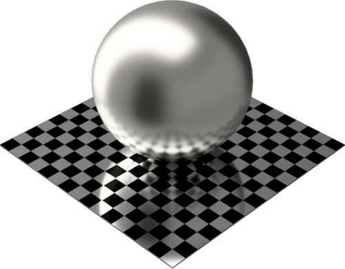 3DCADモデリングの外観をメタルの銀球