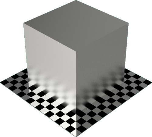 3DCADモデリングの外観をメタルの銀直方体