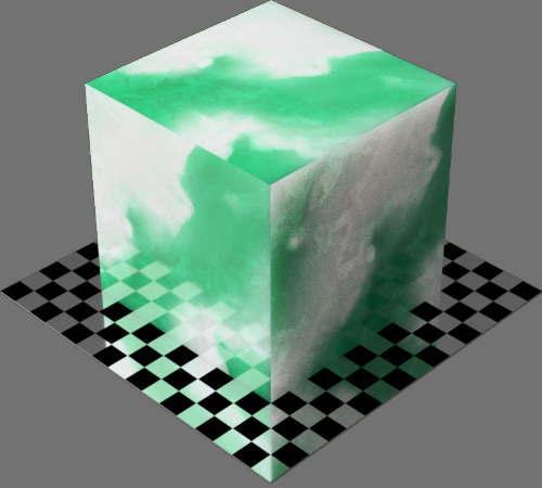 fudsion360レンダリングのひすい直方体