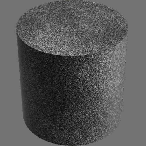 fudsion360レンダリングのアスファルト円柱