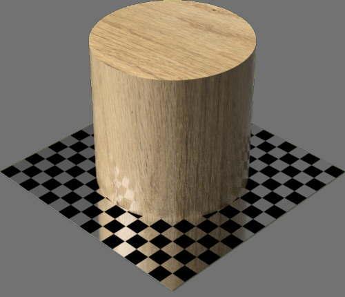 fudsion360レンダリングのオーク材円柱