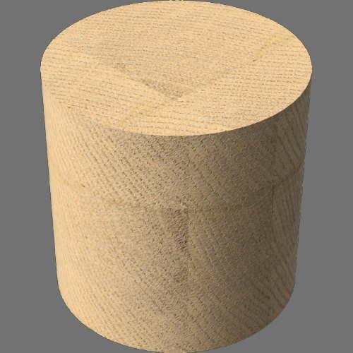 fudsion360レンダリングのオーク材木工円柱