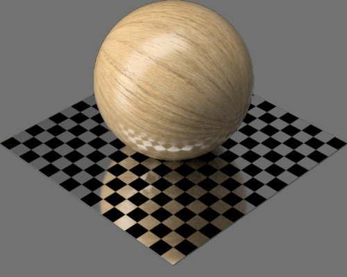 fudsion360レンダリングのオーク材球