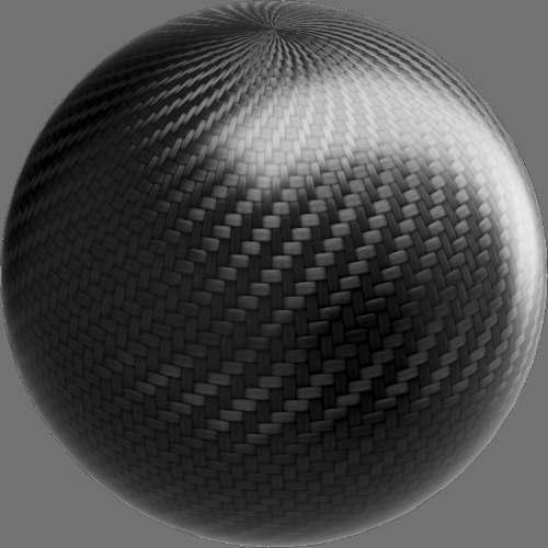 fudsion360レンダリングのカーボンファイバー-綾織球
