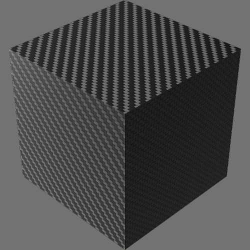 fudsion360レンダリングのカーボンファイバー-綾織直方体