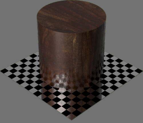 fudsion360レンダリングのクルミ材円柱