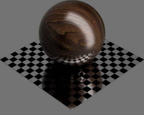 fudsion360レンダリングのクルミ材球