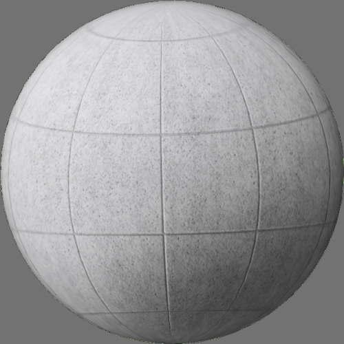 fudsion360レンダリングのコンクリートタイル球