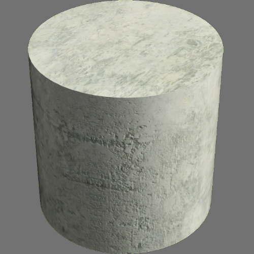 fudsion360レンダリングのコンクリート円柱