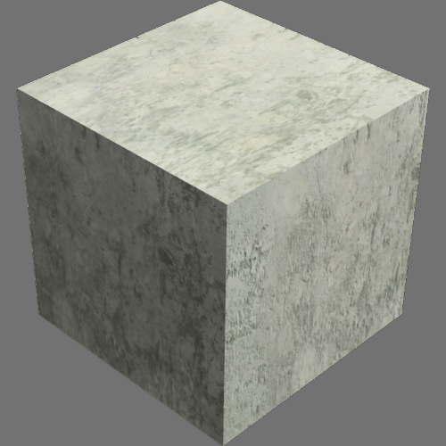 fudsion360レンダリングのコンクリート直方体