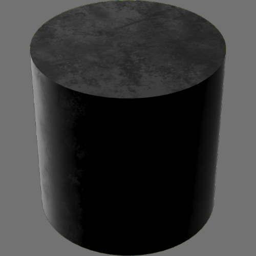 fudsion360レンダリングのゴム円柱