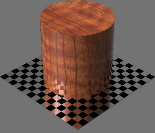 fudsion360レンダリングのサクラ材円柱