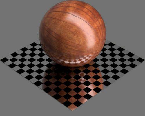 fudsion360レンダリングのサクラ材球