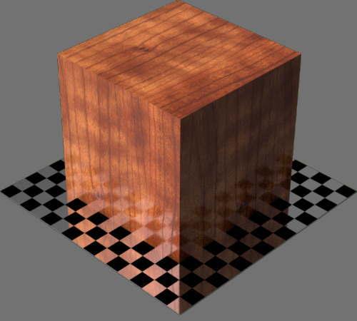 fudsion360レンダリングのサクラ材直方体