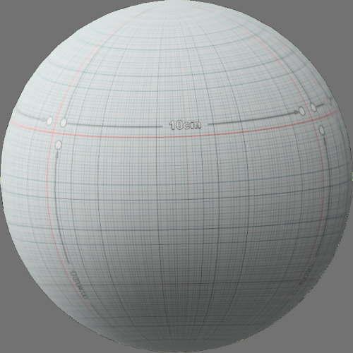 fudsion360レンダリングのサーフェス計測済み球