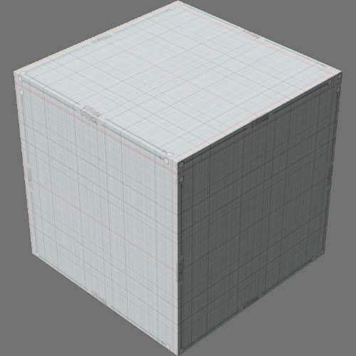 fudsion360レンダリングのサーフェス計測済み直方体