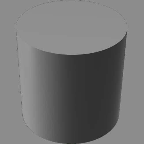 fudsion360レンダリングのベースマテリアル-不透明円柱