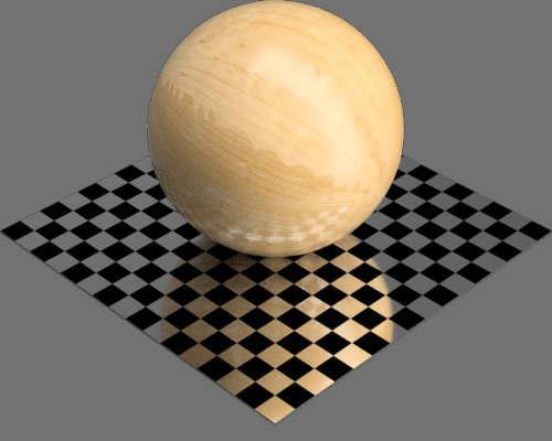 fudsion360レンダリングのマツ材球