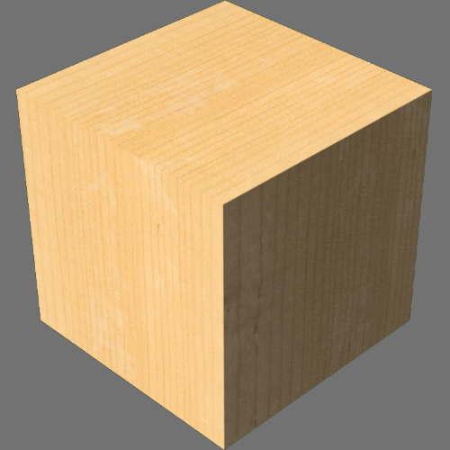 fudsion360レンダリングのマツ材直方体