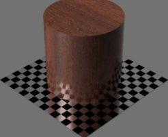 fudsion360レンダリングのマホガニー材円柱