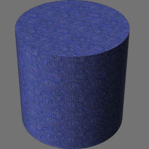 fudsion360レンダリングの外観ファブリック(デニム)円柱