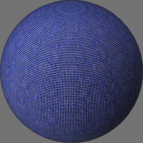 fudsion360レンダリングの外観ファブリック(デニム)球