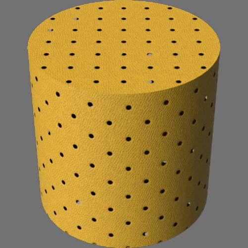 fudsion360レンダリングの外観革-パンチング加工円柱