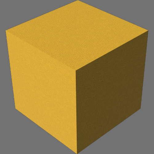 fudsion360レンダリングの外観革-マット直方体