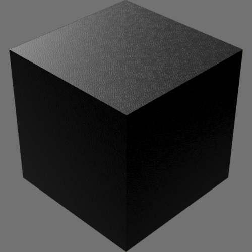 fudsion360レンダリングの外観革-光沢直方体