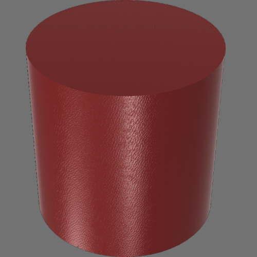 fudsion360レンダリングの外観Leather円柱2