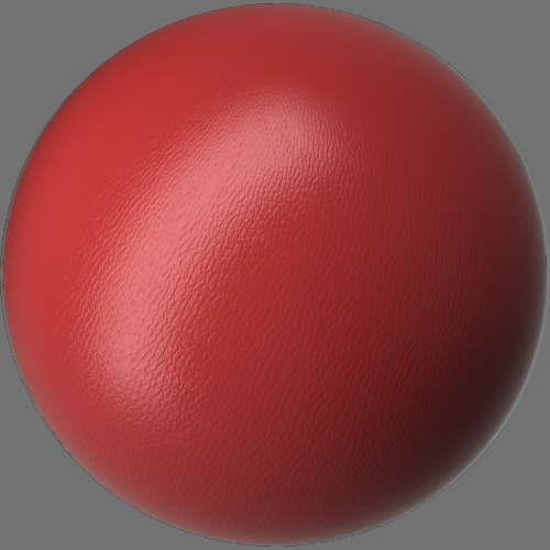 fudsion360レンダリングの外観Leather球