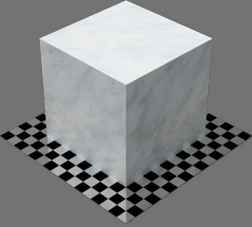 fudsion360レンダリングの大理石直方体
