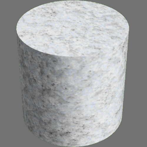 fudsion360レンダリングの御影石円柱
