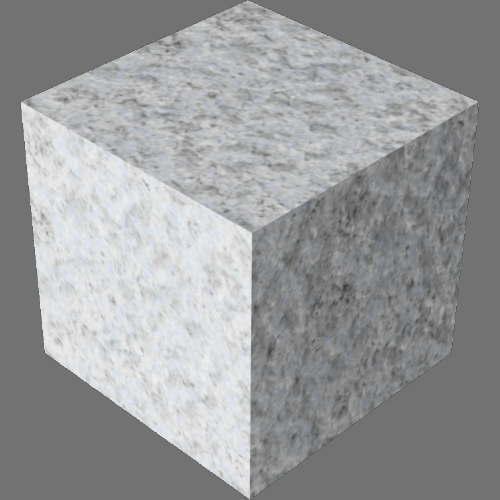 fudsion360レンダリングの御影石直方体