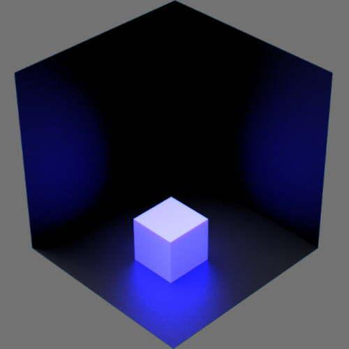 fudsion360レンダリングの放射光の放射率が青のみ+反透明が赤