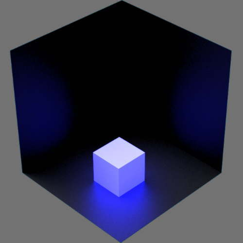 fudsion360レンダリングの放射光の放射率が青のみ
