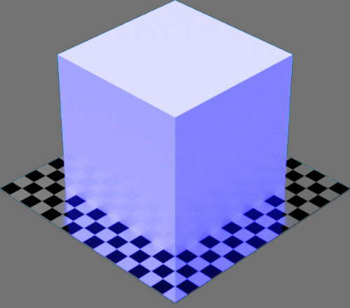 fudsion360レンダリングの放射光の放射率が青