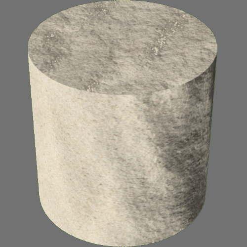fudsion360レンダリングの砂円柱