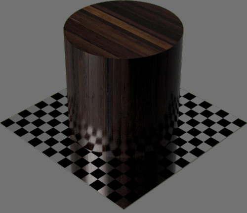 fudsion360レンダリングの竹濃い色円柱