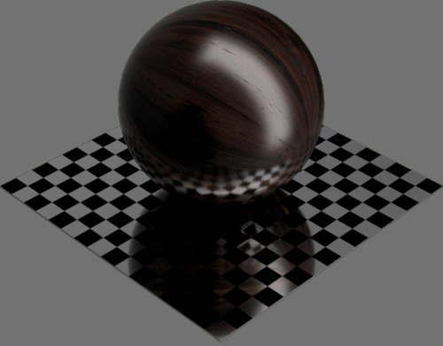 fudsion360レンダリングの竹濃い色球