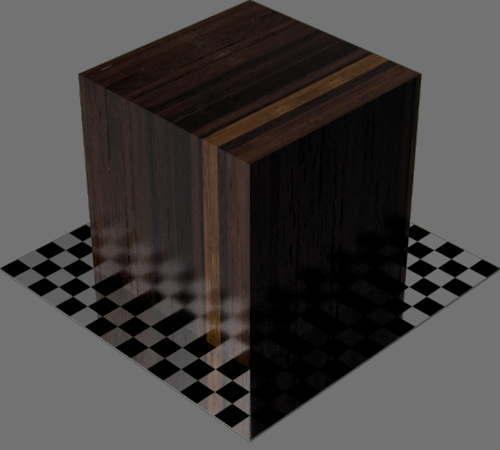 fudsion360レンダリングの竹濃い色直方体