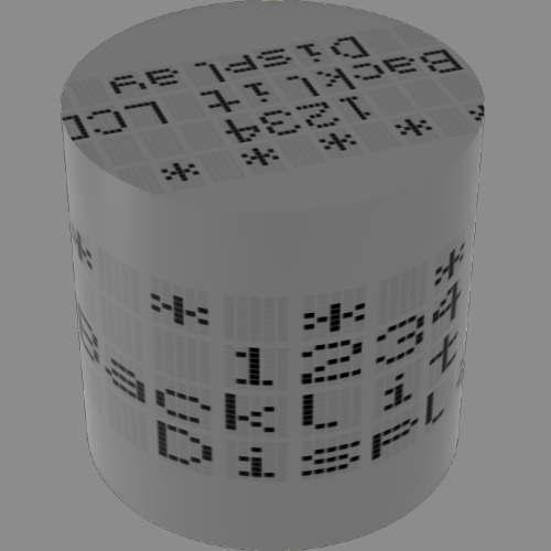 fudsion360レンダリングの表示-4x20-LCD円柱